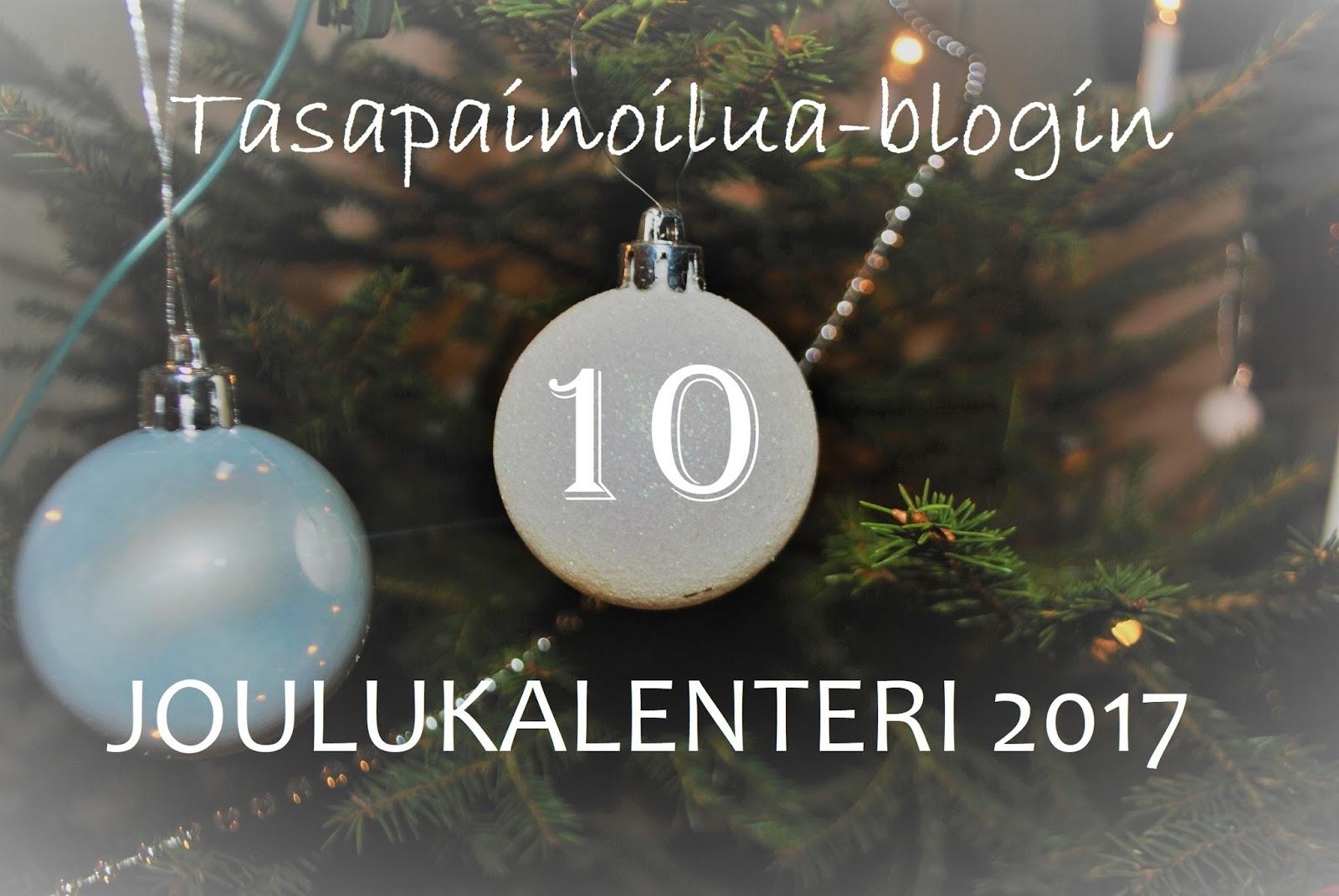 joulukalenteri 2018 arvonta Tasapainoilua: 10. Arvonta: kalenteri 2018 joulukalenteri 2018 arvonta