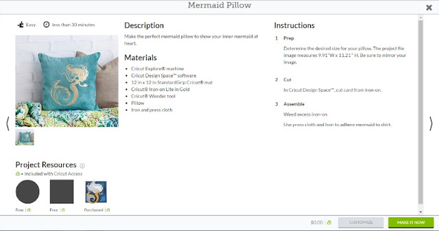 Create your own mermaid shirt with the Cricut Explore using a Make It Now project in the Cricut design space!