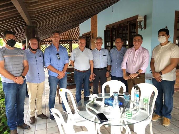 Paulo Marinho e Paulinho recebem em Caxias pesos pesados do agronegócio brasileiro.  Senador Roberto Rocha faz exposição sobre a ZEMA