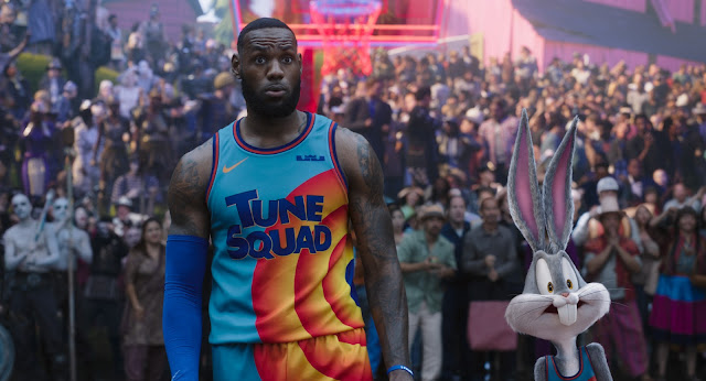 """LEBRON JAMES and BUGS BUNNY in Warner Bros. Pictures' animated/live-action adventure """"SPACE JAM: A NEW LEGACY,"""" a Warner Bros. Pictures release."""