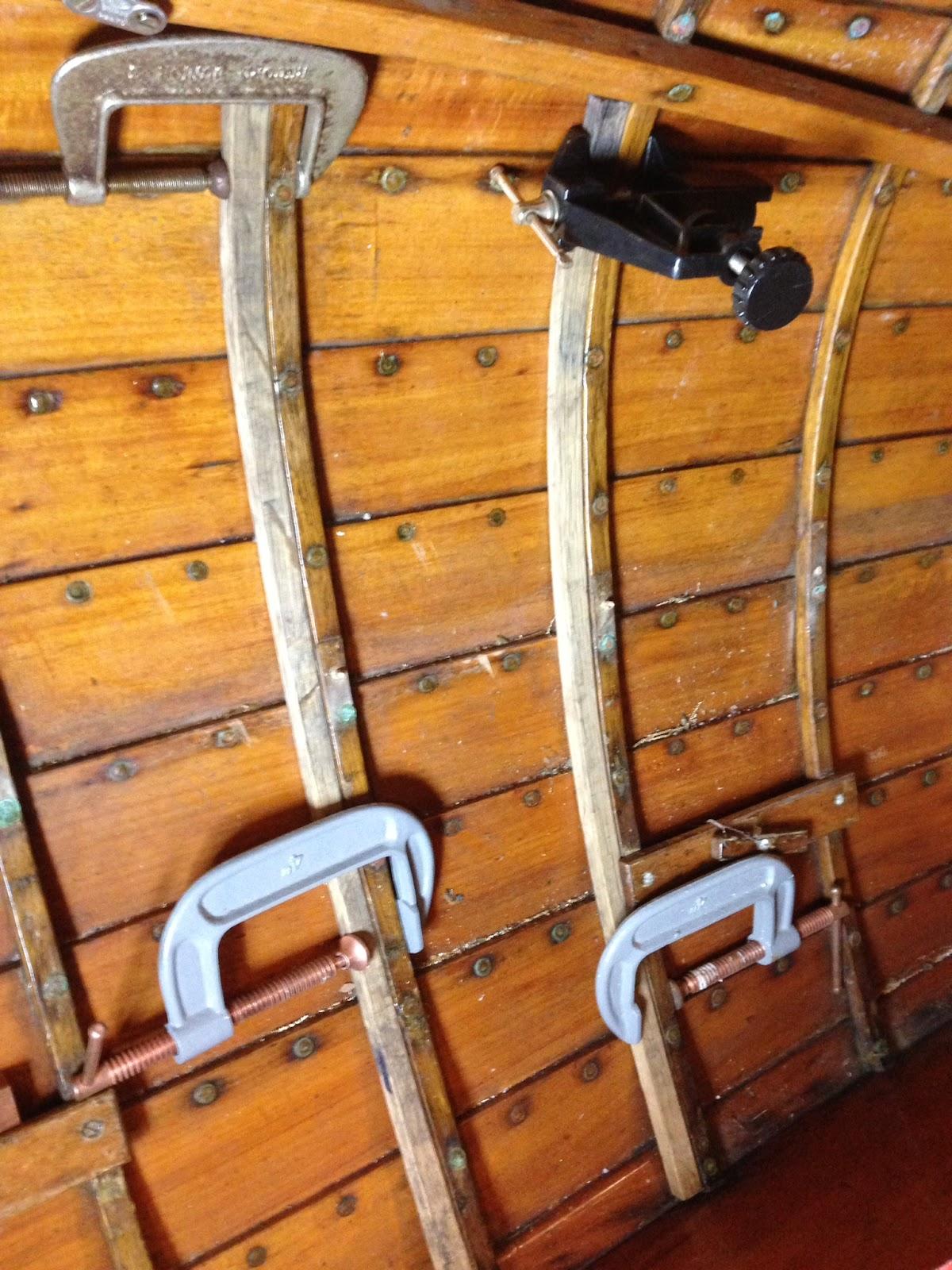 Small Clinker Boat Restoration: Repairing Redwing frames, ribs