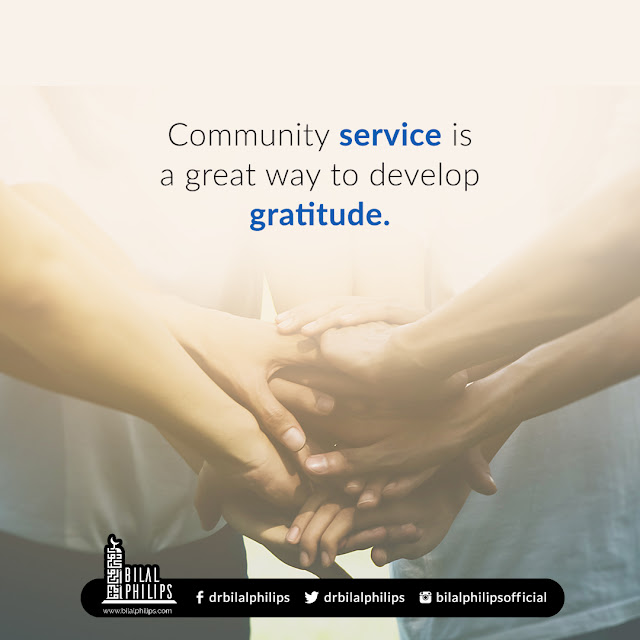 Community service is a great way to develop gratitude