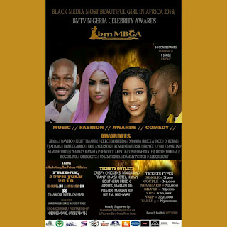 UPCOMING: MOST BEAUTIFUL GIRL IN AFRICA 2018/ BMTV NIGERIA CELEBRITY AWARDS 2018