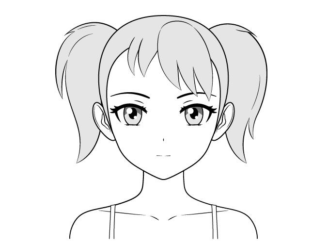 Gambar wajah gadis anime tsundere