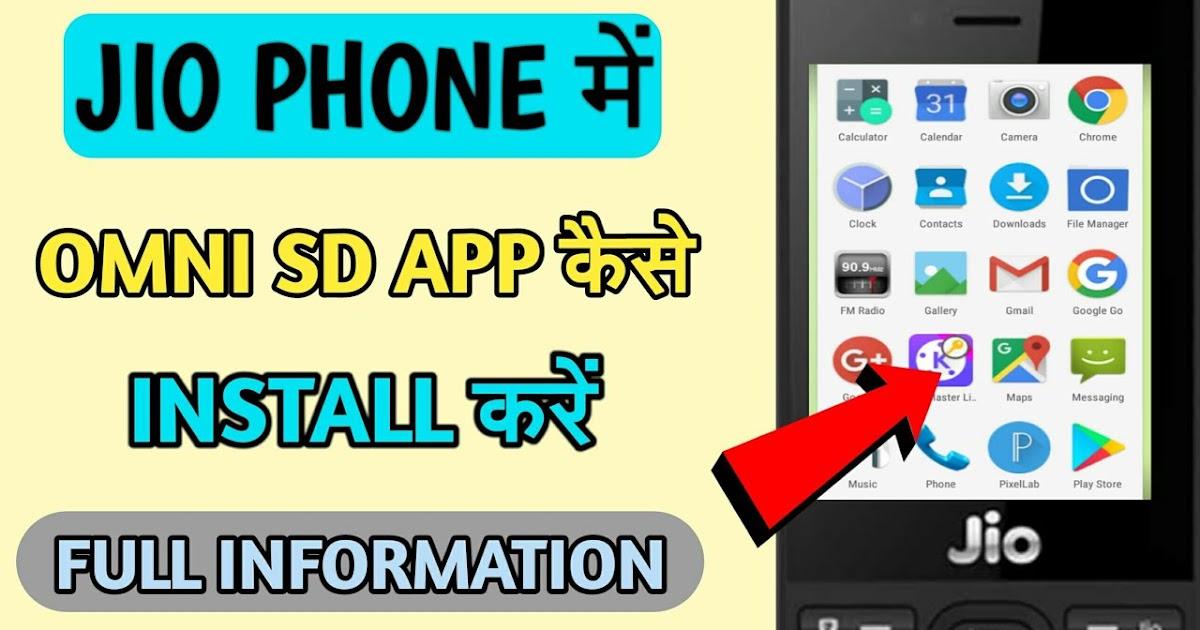 Install google play store app in jio phone