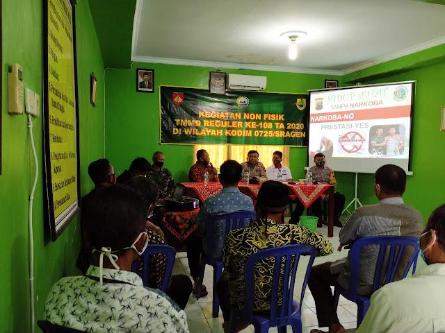 Kodim Sragen - Kodim Sragen Gandeng Polres beri penyuluhan Narkoba di Majenang Sukodono