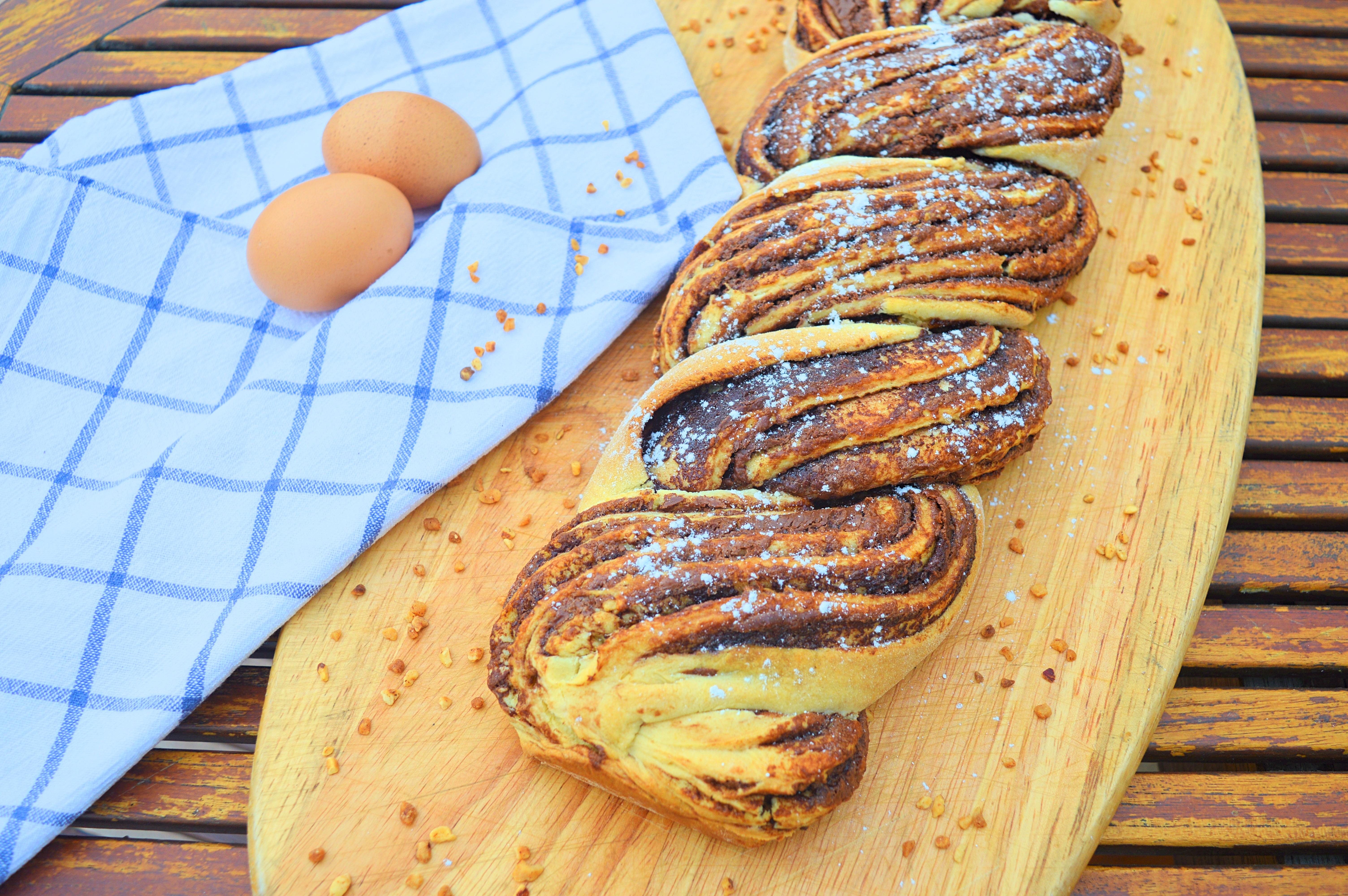 Brioche tressée pâte à tartiner