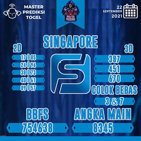 Prediksi Master Togel Singapura Rabu 22 September 2021