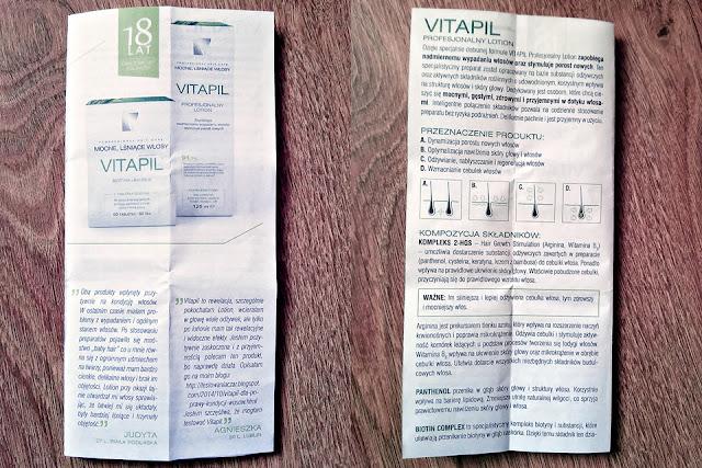Vitapil, biotyna + bambus - mocne, lśniące włosy, ulotka