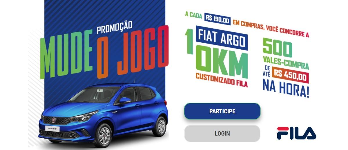 Promoção FILA 2020 Mude o Jogo Prêmios e Ganhadores