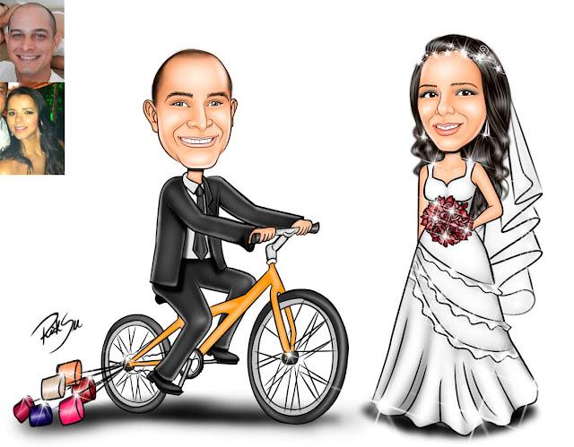 #evento #convites #canecas #camisetas #ilustrações #caricaturando #ricksucaricaturas #artista #noivos