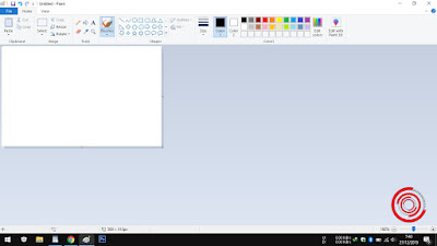 1. Langkah pertama silakan buka aplikasi Paint nya terlebih dahulu