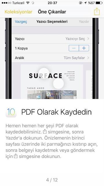 Dosyaları PDF olarak kaydetmek