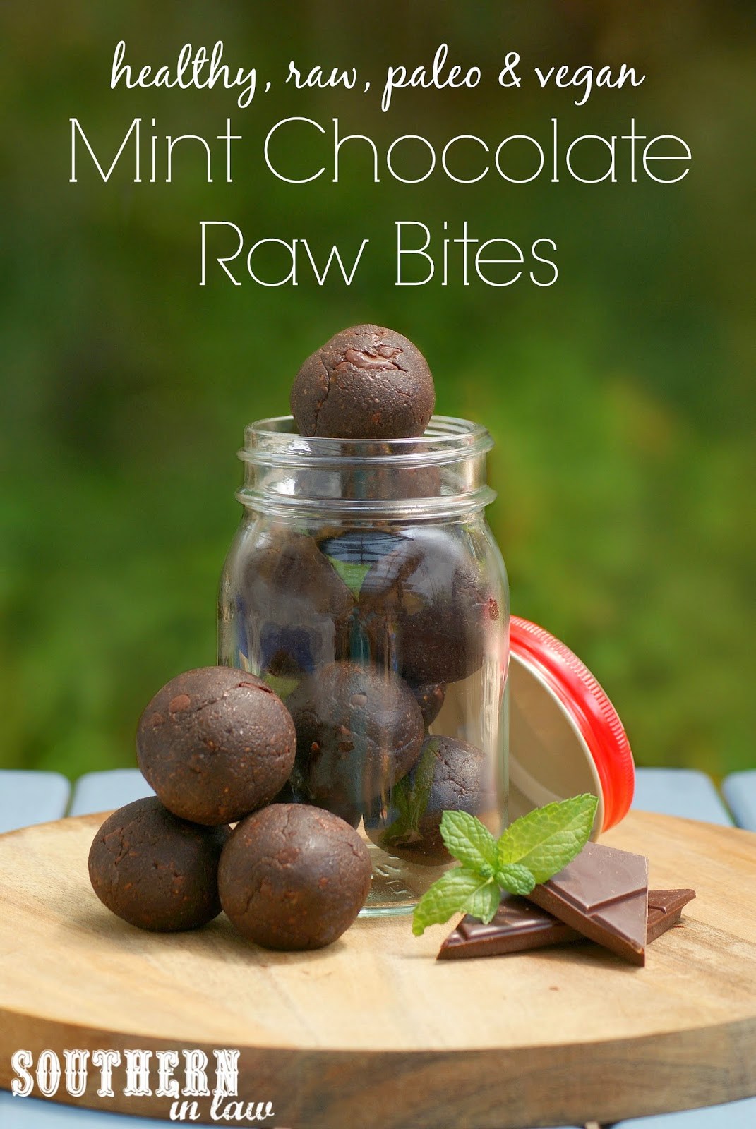 Mint Chocolate Raw Bites Recipe - Gluten Free, Healthy, Low Fat, Paleo, Clean Eating Friendly, Grain Free, Peanut Free, Egg Free, Vegan