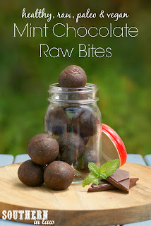 Healthy Raw Mint Chocolate Bliss Balls Recipe