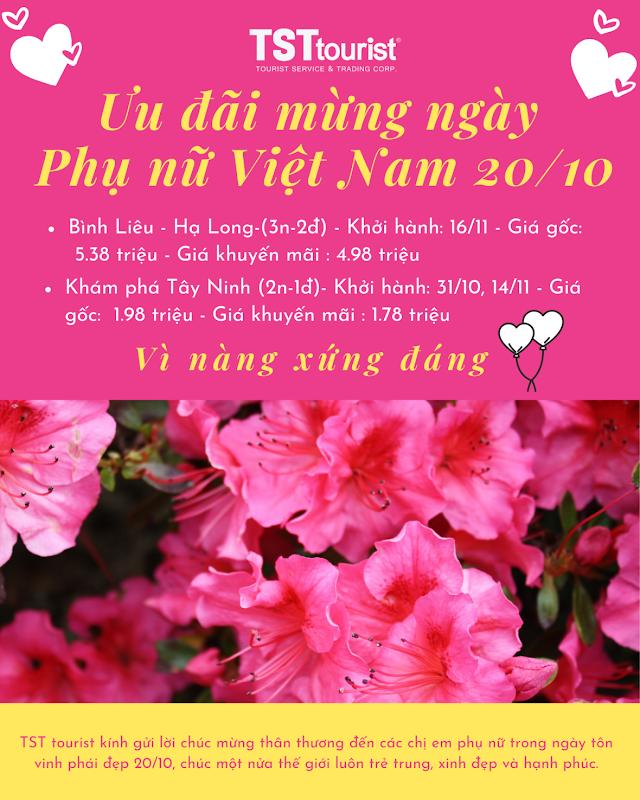 Ưu đãi mừng ngày phụ nữ Việt Nam 20/10