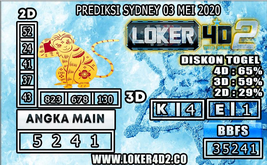 PREDIKSI TOGEL SYDNEY LOKER4D2 03 MEI 2020