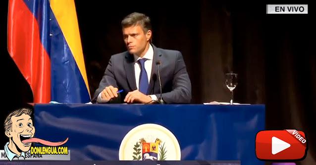 La rueda de prensa de Leopoldo López desde España