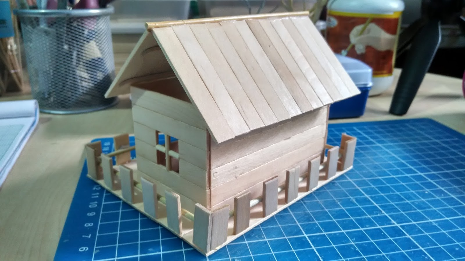 Tutorial Rumah Batang Aiskrim Popsicle Stick Miniature House