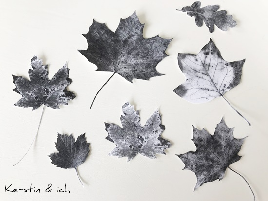 DIY Herbst Deko Blätter