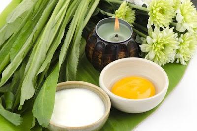 Masque du sein avec des ingrédients naturels