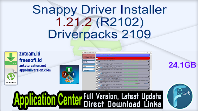 Snappy Driver Installer 1.21.2 (R2102) Driverpacks 2109