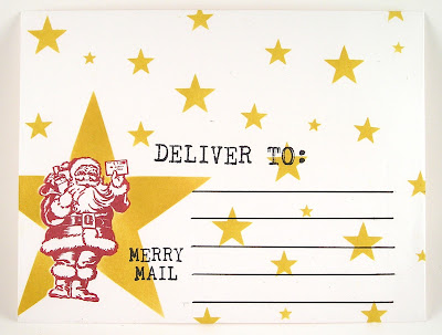 Darkroom Door Merry Mail Small Stencil Star Envelope