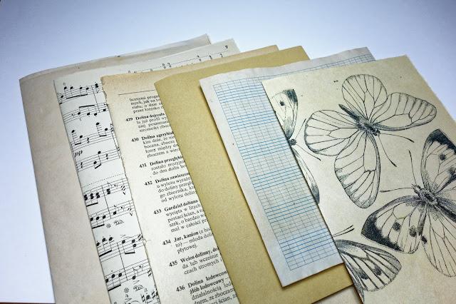 Baza na junk journal w stylu vintage