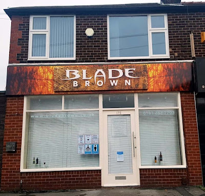 Blade Brown barber shop in Didsbury, Manchester