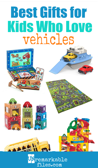 Kid-tested and mom-approved, these are the best vehicle toys and gifts for the toddler, preschooler, or elementary schooler on your list who loves cars, trucks, trains, and things that go. Everything on this list of gift ideas for boys with a vehicle obsession has been used and loved by my 8-person family and stood up to years of heavy play. #toys #gifts