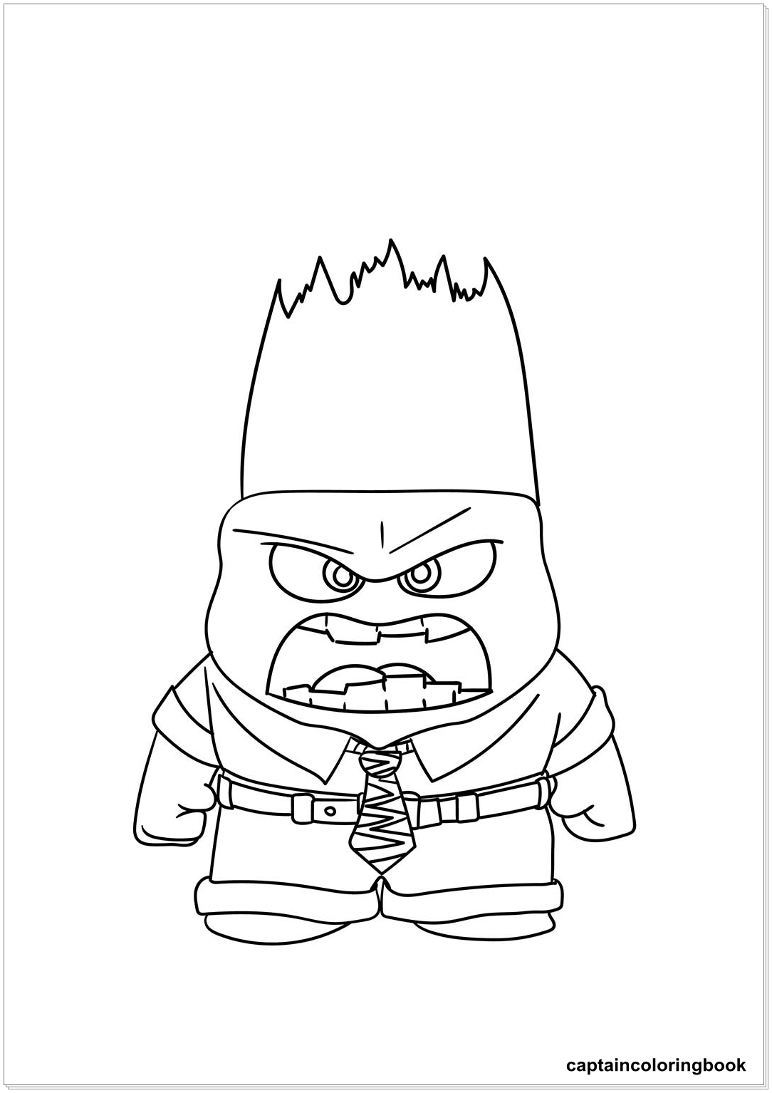 Inside Out Coloring Pages Fritz Fear Bing Bong Joy Disgust