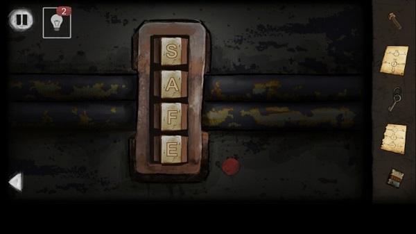 на ящике вводим код и забираем ключ в игре выход из заброшенной шахты