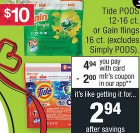 Tide Pods Coupon Deal $1.27 113-119