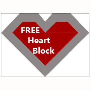FREE QUILT BLOCK-HEART QUILT BLOCK-FREE PATTERN-VALENTINE HEART