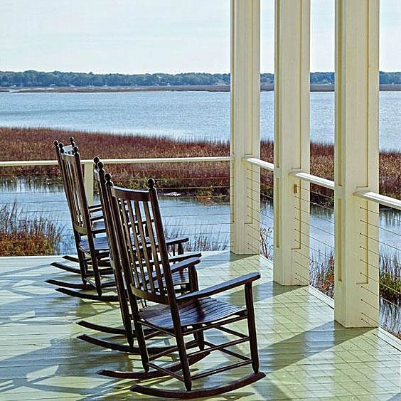 Southern, patio, bay, Summertime, nature