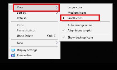 Cara Mengecilkan Icon Desktop Windows 7, 8 dan 10