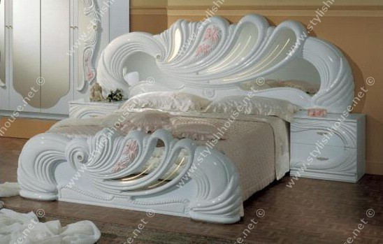 Italian romantic classic bedroom furniture set for newlyweds