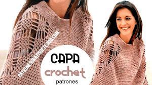 Capa Crochet con Calado de Diamantes | Patrones