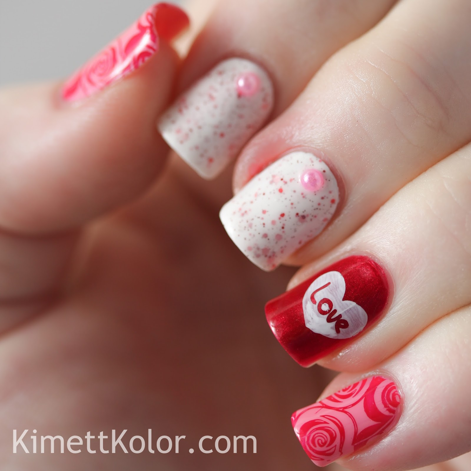 Pure Love Mother's Day Nail Design | Mother's Day Nail Art | Nail Designs