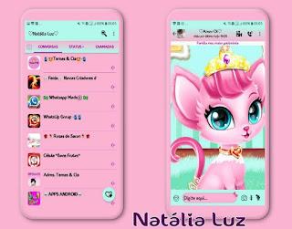 Cat Princess Theme For YOWhatsApp & Fouad WhatsApp By Natalia Luz