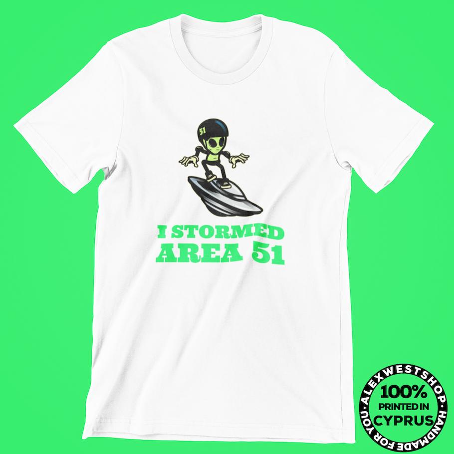 t shirt alien cute funny neon area 51 surfing ufo