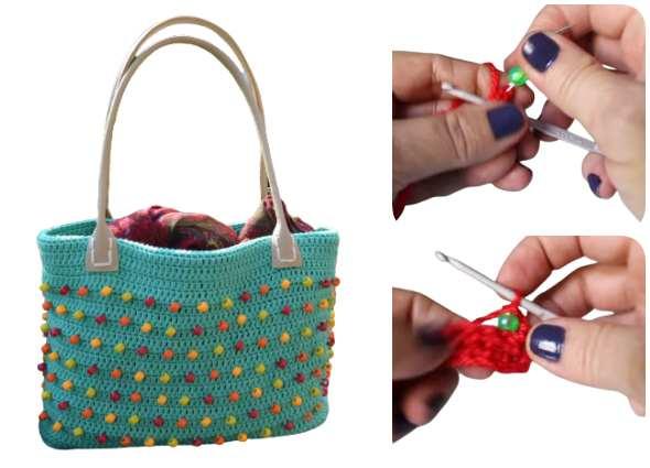 insertar abalorios crochet, patrones ganchillo