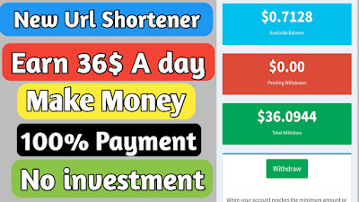 New Link shortener website with Daily Payments and High CPM