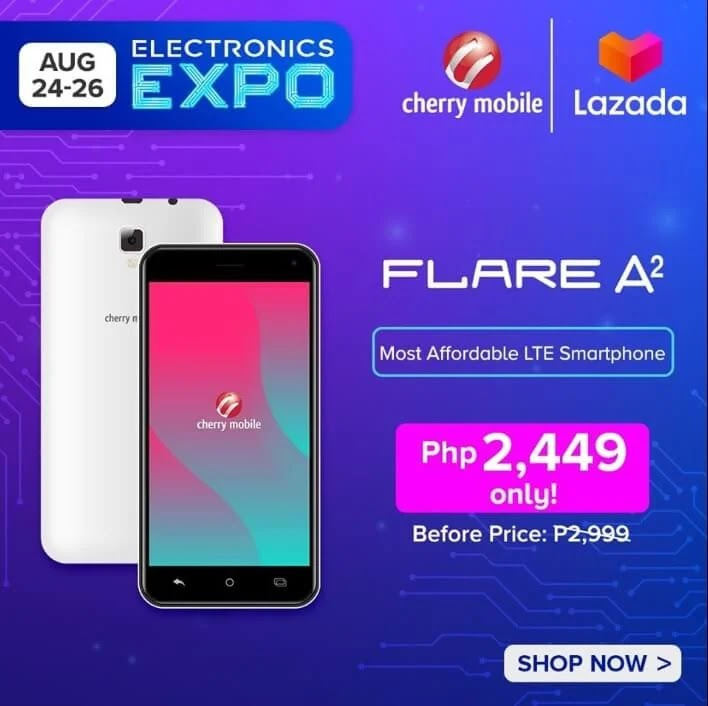 DEAL ALERT: Cherry Mobile Flare A2 on SALE for Only Php2,449 (Instead of Php2,999)