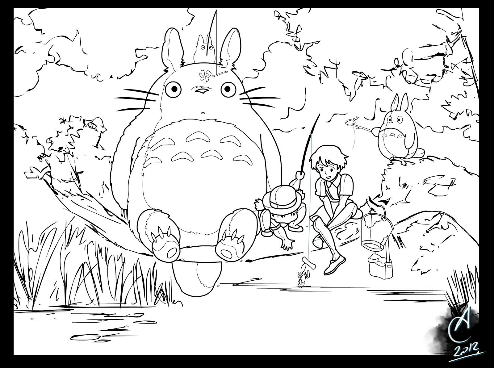 Calbini Alessandro Art's Blog: Tonari no Totoro: Digital Paint