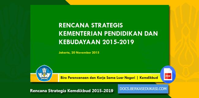 Rencana Strategis Kemdikbud 2015-2019