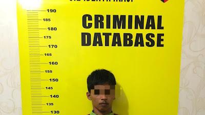 Aksi pencurian sepeda motor terekam CCTV di parkiran PT RIFAN, Seorang pemuda diamankan Polsek Pekanbaru Kota