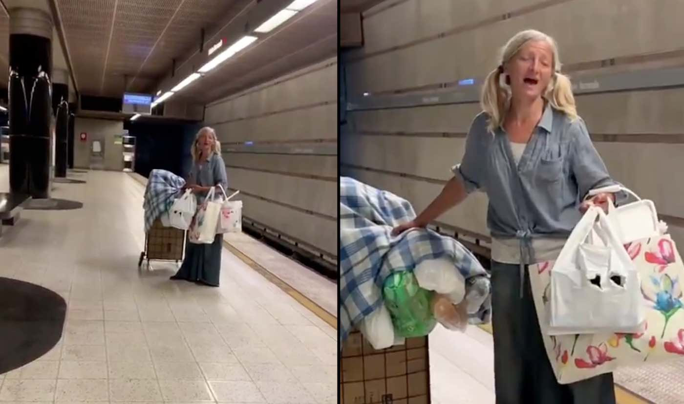 Mesmerizing Video Shows Homeless Woman Singing Opera In The Los Angeles Subway