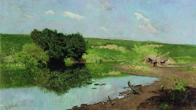 Исаак Ильич Левитан - Пейзаж. 1883