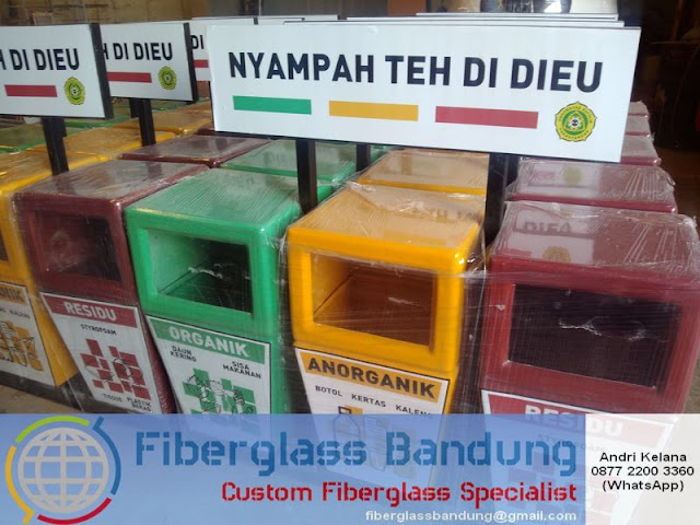 tong sampah fiber model 3 pilah
